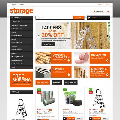 Durable Building Materials PrestaShop Theme (PrestaShop theme for selling tools) Item Picture