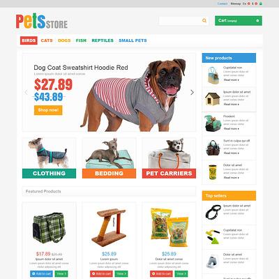Everything Your Pet Needs PrestaShop Theme (PrestaShop theme for pet stores) Item Picture