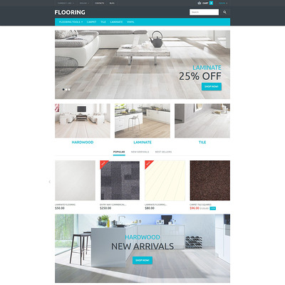 Flooring Store PrestaShop Theme (PrestaShop theme for flooring stores) Item Picture