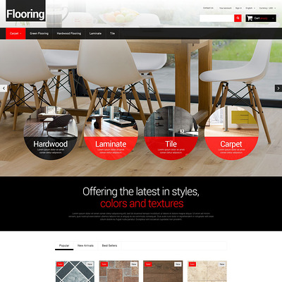 Flooring for Homes PrestaShop Theme (PrestaShop theme for flooring stores) Item Picture