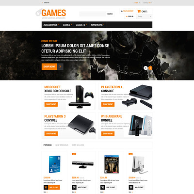 Gaming Board PrestaShop Theme (PrestaShop theme for video game stores) Item Picture