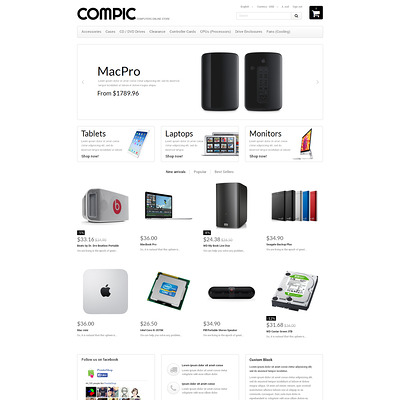 HighEnd Hardware PrestaShop Theme (PrestaShop theme for selling computers and accessories) Item Picture