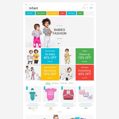 Infant Clothing Store PrestaShop Theme (PrestaShop theme for selling clothing for kids, children, and babies) Item Picture
