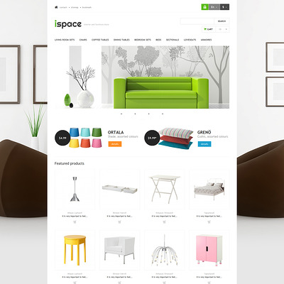Ispace PrestaShop Theme (PrestaShop theme for interior design and home decor) Item Picture