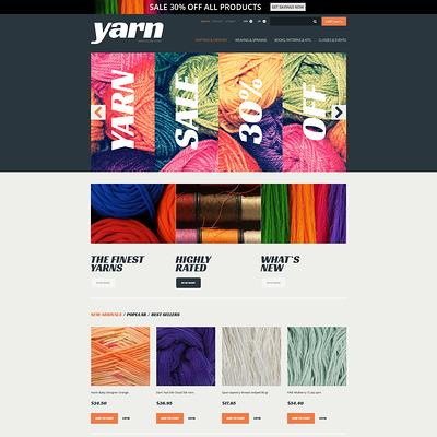 Knit Crochet Supplies PrestaShop Theme (PrestaShop theme for craft stores) Item Picture