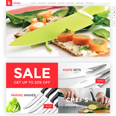 Knives PrestaShop Theme (PrestaShop theme for kitchen supplies) Item Picture