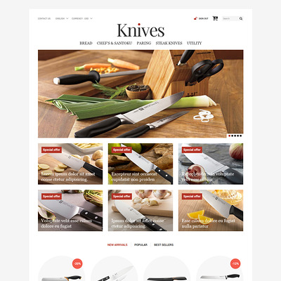 Knives Store PrestaShop Theme (PrestaShop theme for kitchen supplies) Item Picture