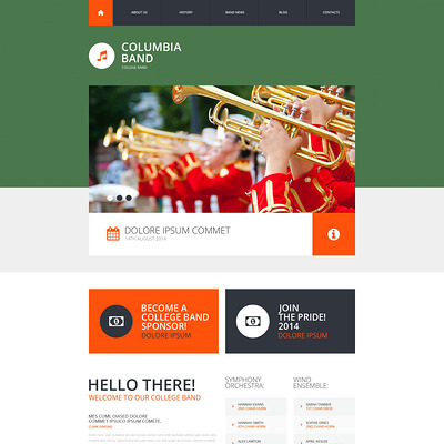 Music Band Responsive Website Template (Bootstrap template for music websites) Item Picture