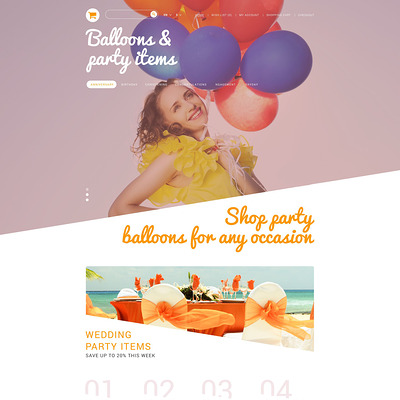 Party Stuff PrestaShop Theme (PrestaShop theme for selling party supplies) Item Picture