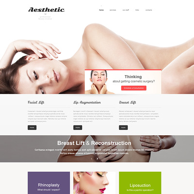 Plastic Surgery Responsive Website Template (Bootstrap website template for plastic surgeons) Item Picture