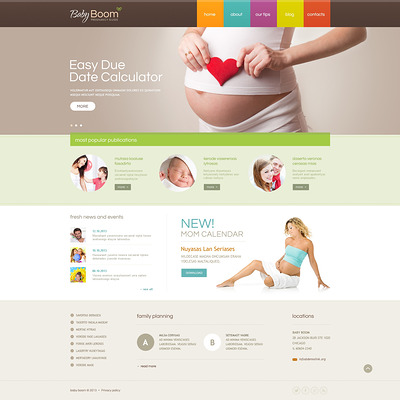 Pregnancy Responsive Website Template (medical Bootstrap website template) Item Picture