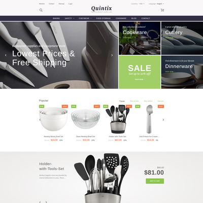 Quintix (PrestaShop theme for kitchen supplies) Item Picture