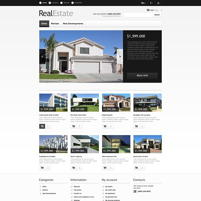 Real Estate Market PrestaShop Theme (real estate PrestaShop theme) Item Picture