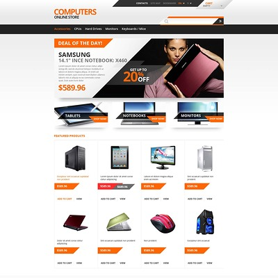 Responsive Computers Store PrestaShop Theme (PrestaShop theme for selling computers and accessories) Item Picture