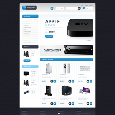 Responsive Hardware Store PrestaShop Theme (PrestaShop theme for selling computers and accessories) Item Picture