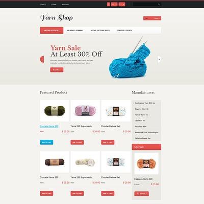 Responsive Yarn Shop PrestaShop Theme (PrestaShop theme for craft stores) Item Picture