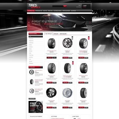 Tires Wheels for Autos PrestaShop Theme (PrestaShop theme for car, vehicle, and automotive stores) Item Picture