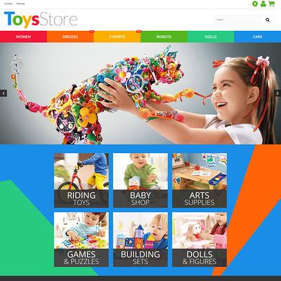 Toys Store PrestaShop Theme (PrestaShop theme for toy stores) Item Picture