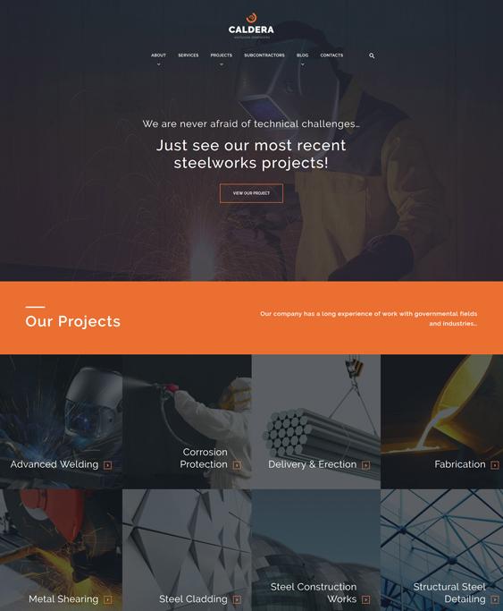 caldera construction wordpress themes