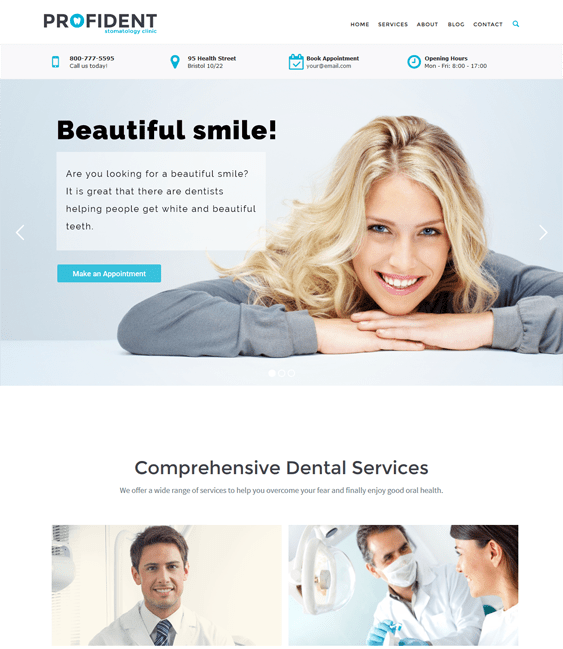 profident medical wordpress themes