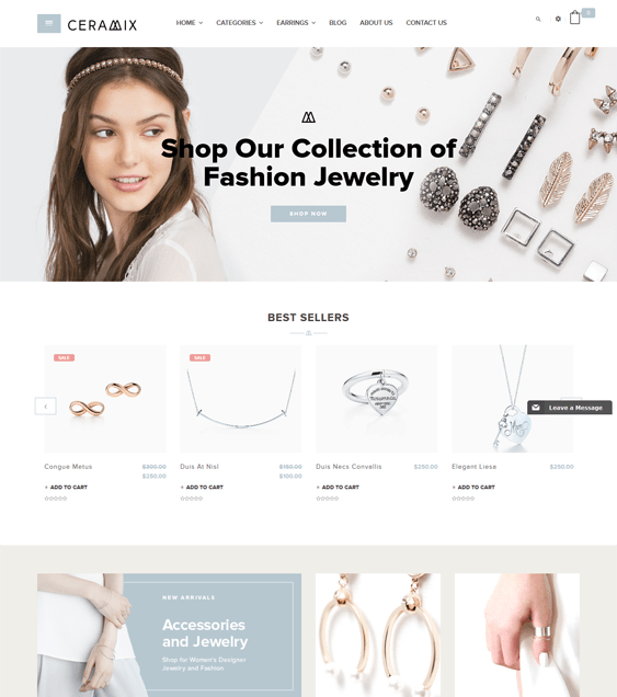 ceramix jewelry watch shopify themes