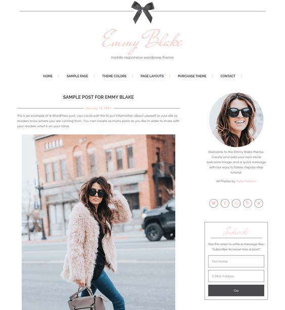 emmy feminine wordpress themes