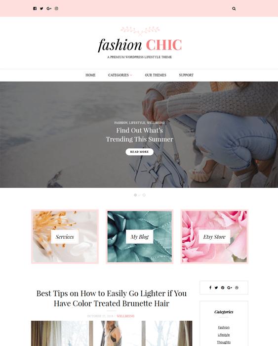 fashion blog wordpress themes chic