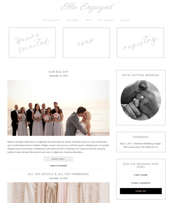 ella wedding wordpress themes