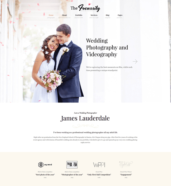 focussity wedding wordpress themes