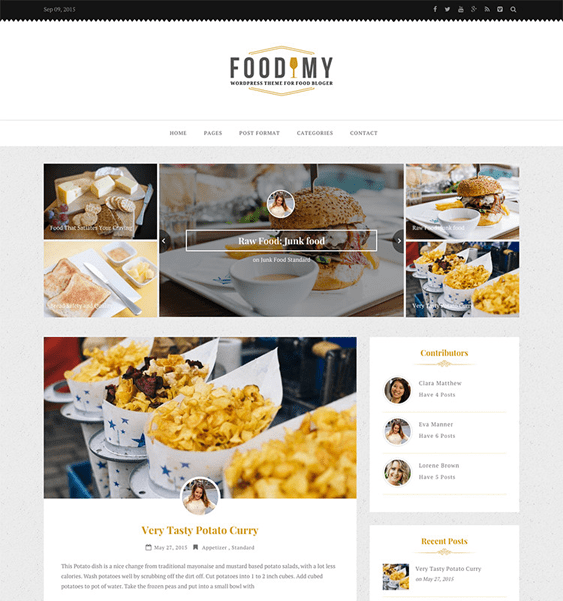 foodimy food recipe websites blogs wordpress themes