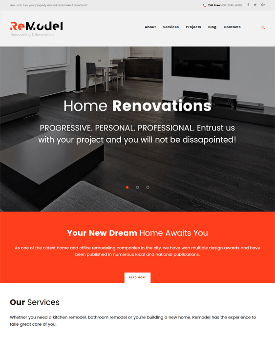 remodel interior design wordpress themes
