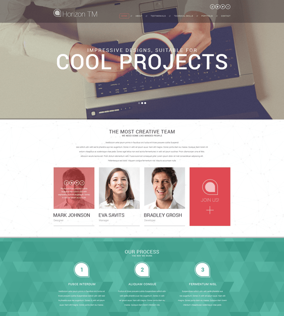 web design cv resume wordpress themes