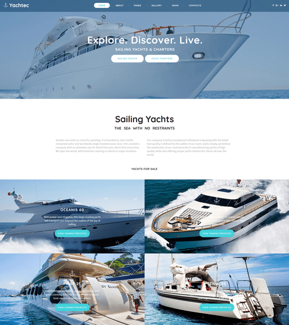 yacht sports joomla templates