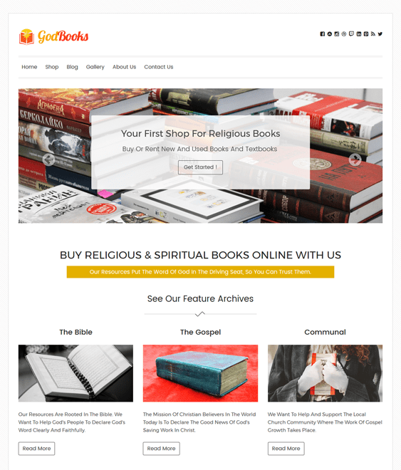 godbooks church religious wordpress themes
