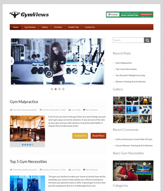 gymviews gym fitness wordpress themes