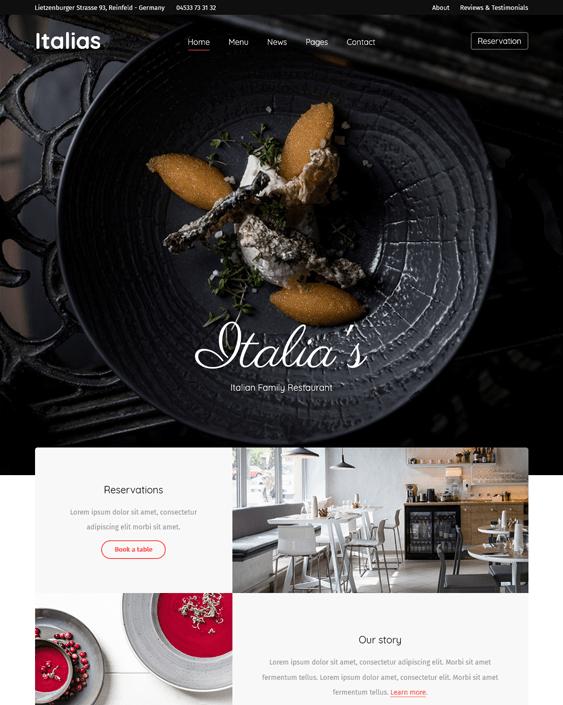 italias restaurant wordpress themes