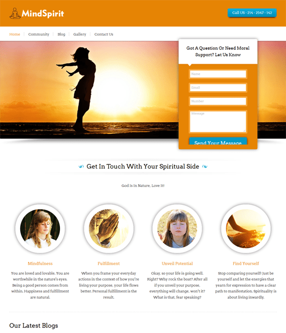 mindspirit church religious wordpress themes