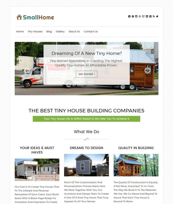 small home architect wordpress themes