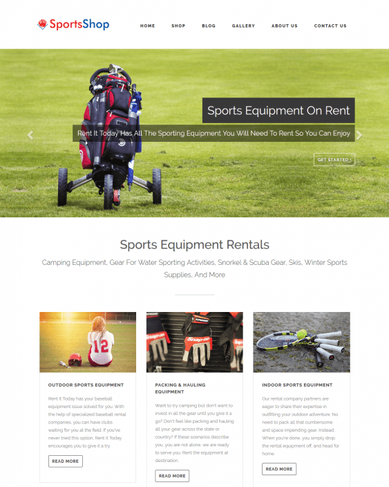sportsshop sports wordpress themes