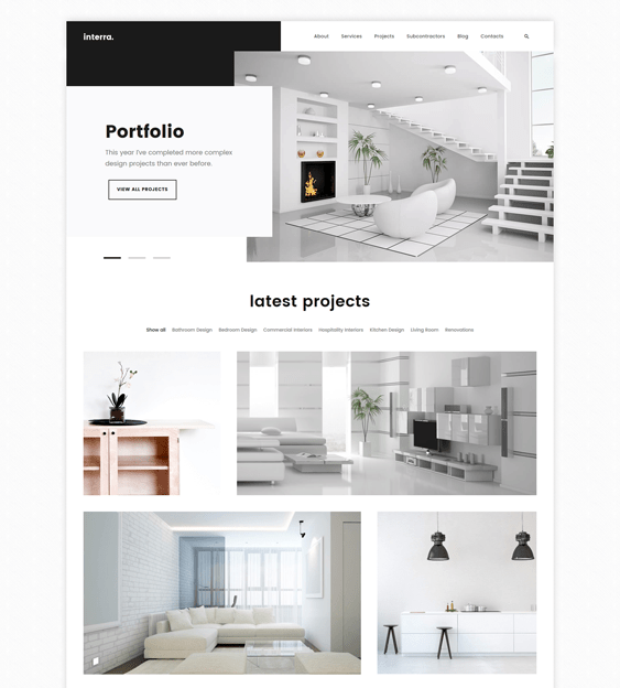 Home Interiors Website: 5 Of The Best WordPress Themes For Interior Design & Home