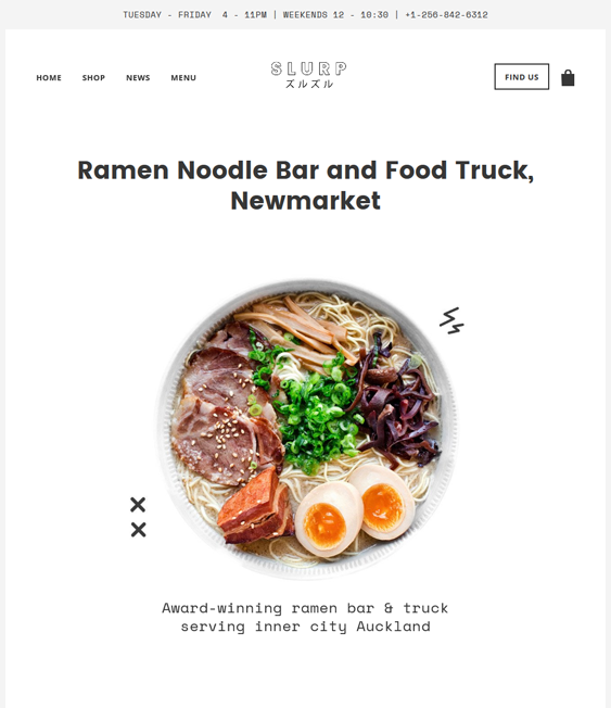 local shopify themes food drink online stores
