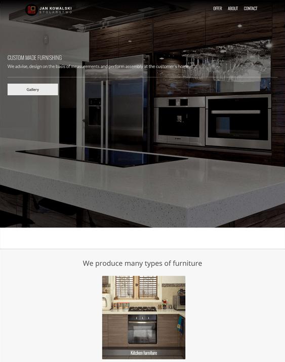 onepage interior design home decor wordpress themes