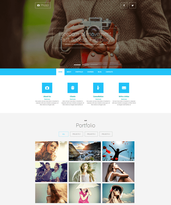 11 of the Best Joomla Templates for Photographers – <br />down