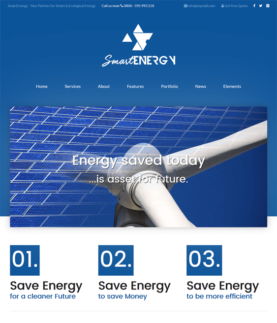 smartenergy green eco-friendly organic wordpress themes