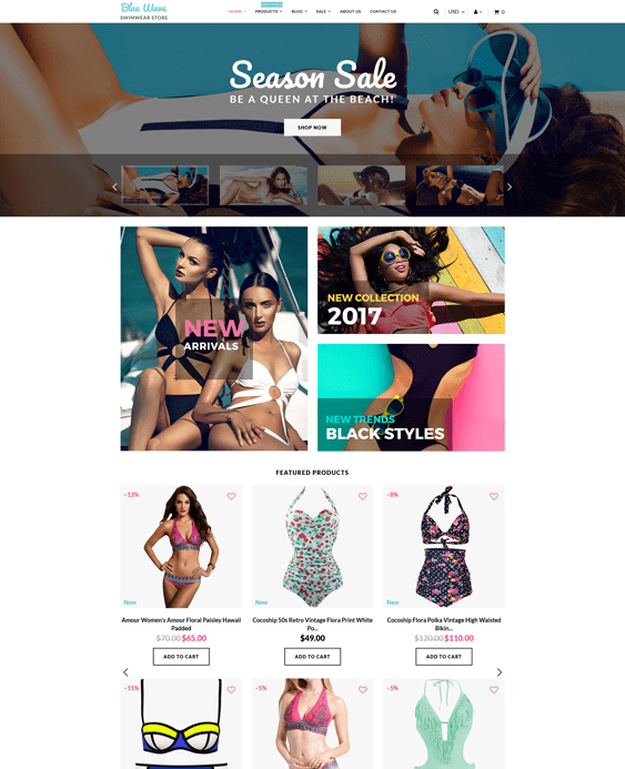 swimwear clean shopify themes