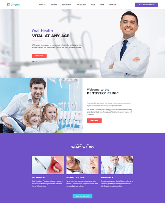 biteon medical wordpress themes