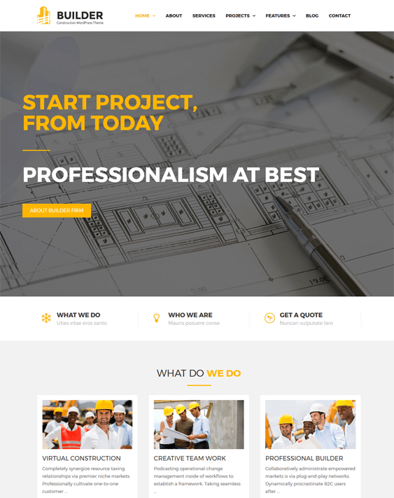 builder wordpress themes construction companies building contractors