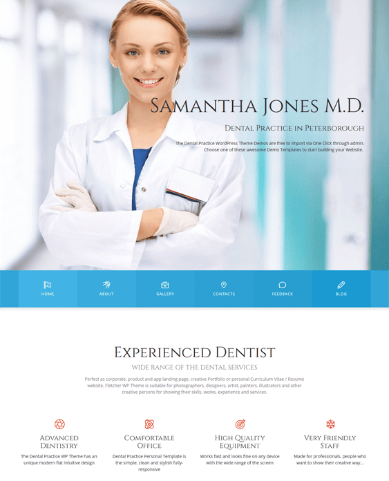 dental medical wordpress themes