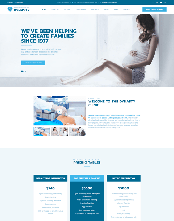 dynasty medical wordpress themes