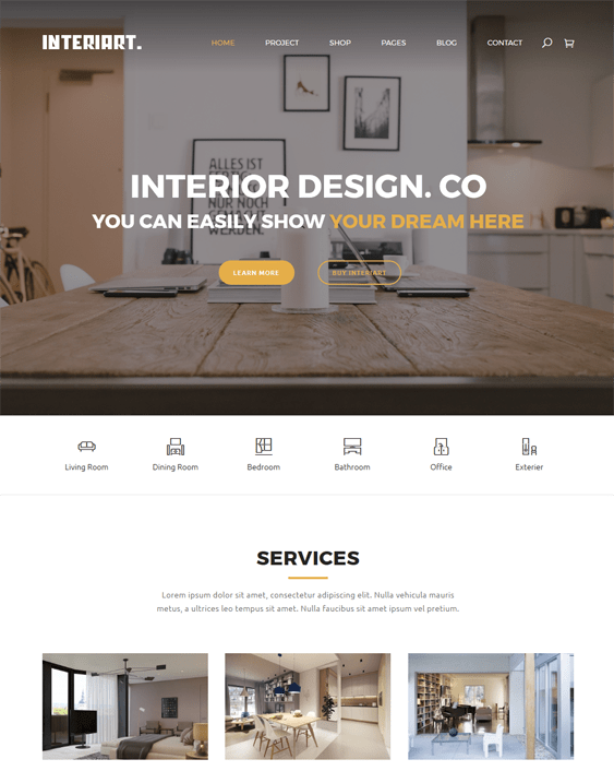 interiart interior design joomla templates